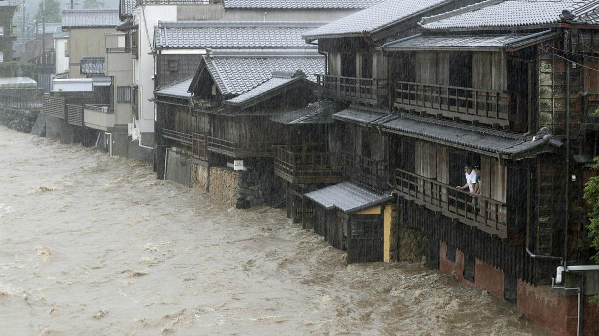 Thyphon Hagibis japon inondation